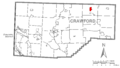 Map of Canadohta Lake, Crawford County, Pennsylvania Highlighted.png