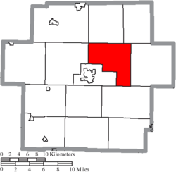 Location of Washington Township in Carroll County