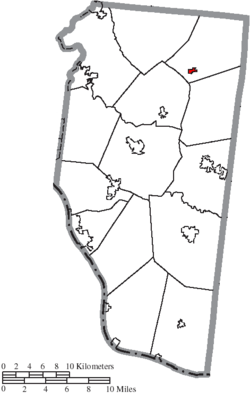 Location of Newtonsville in Clermont County