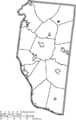 Map of Clermont County Ohio Highlighting Newtonsville Village.png