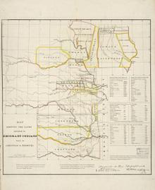 Індіанська територія в 1836 р