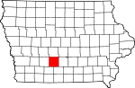 Map of Iowa highlighting Madison County.svg