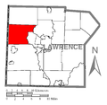 Map of Mahoning Township, Lawrence County, Pennsylvania Highlighted.png