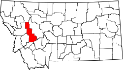 Map of Montana highlighting Powell County.svg