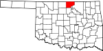 State map highlighting Kay County