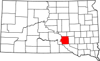 Map of South Dakota highlighting Brule County.svg