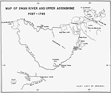 Peter Fidler's map of Swan River posts