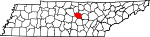 State map highlighting DeKalb County