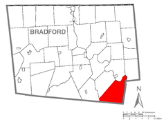 Map of Wilmot Township, Bradford County, Pennsylvania Highlighted.png