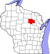 State map highlighting Langlade County
