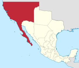 Location of Las Californias