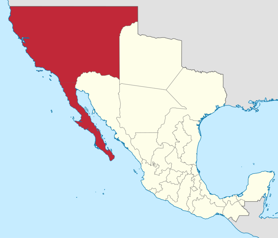 Location of Las Californias
