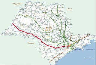 Rodovia Raposo Tavares highway in São Paulo