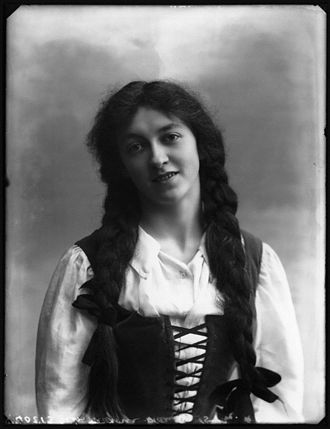 Margery Maude - by Bassano, whole-plate glass negative