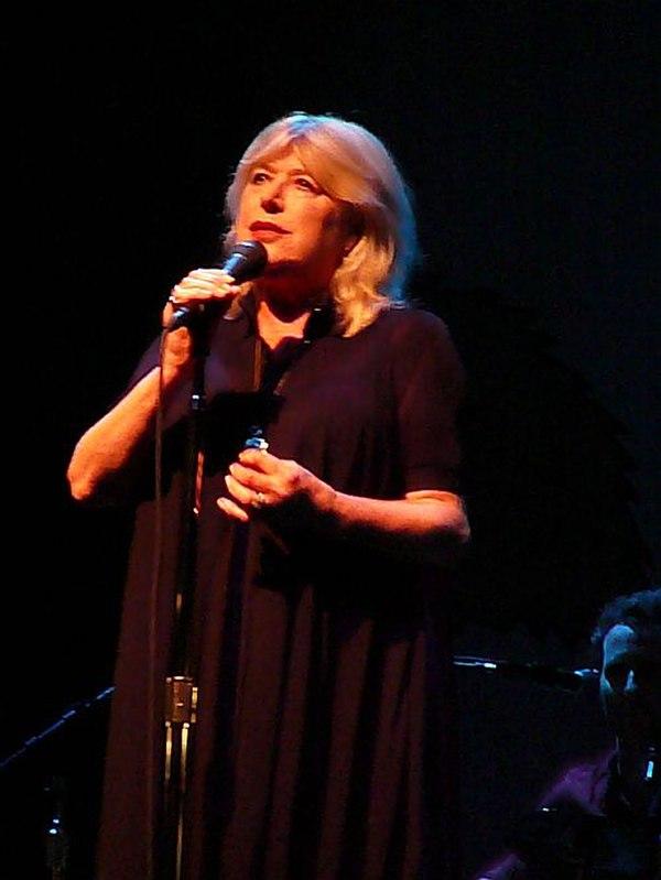 Photo Marianne Faithfull via Wikidata