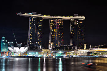 Marina bay sands night skypark 2010