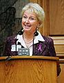 Marion Pedersen (v) Danmark, talar vid Nordiska radets session i Kopenhamn 2006.jpg