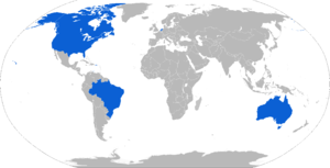 Mark 48 torpedo - Map with Mark 48 operators in blue