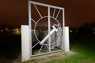 Martin Kippenberger - Entrance of the Metro-Net Station in the park of the Leipzig Trade Fair.