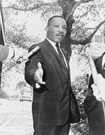Martin Luther King, líder del movimiento en favor de los derechos civiles de los afroamericanos.