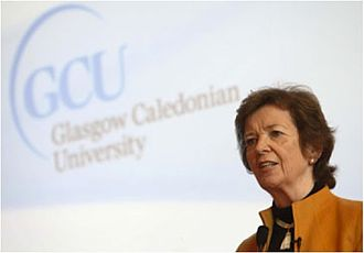 Glasgow Caledonian University - Former President of Ireland Mary Robinson at her induction as a Magnus Magnusson Fellow in 2011