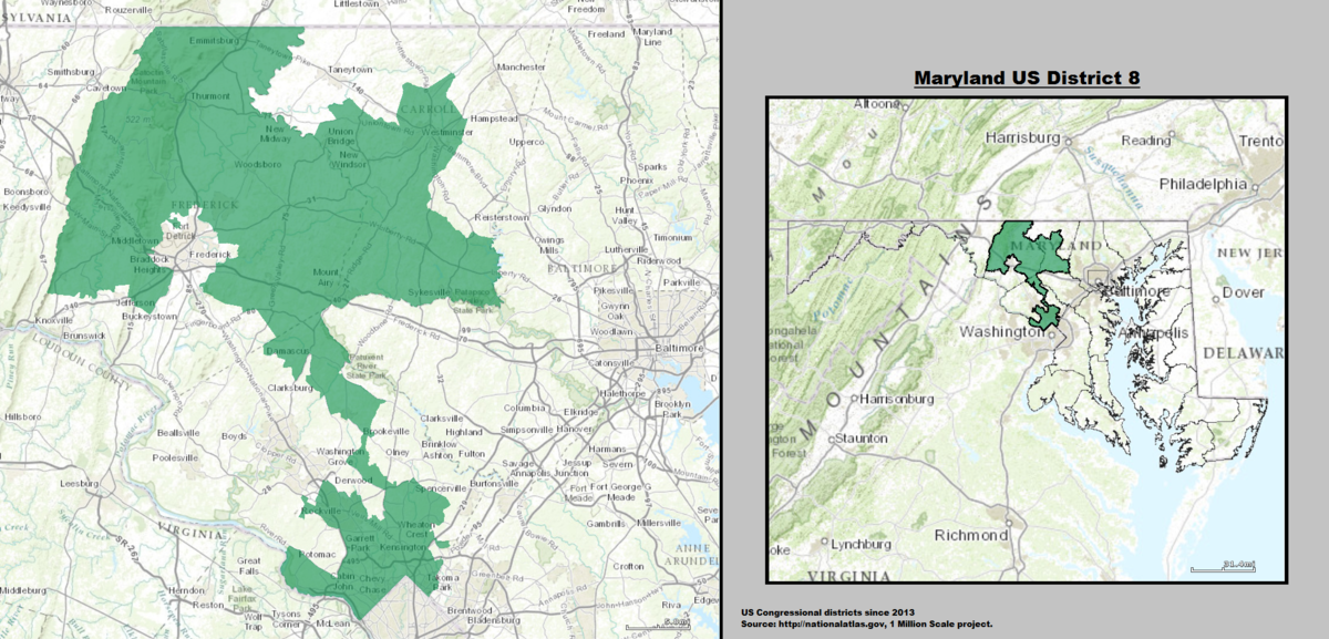 Maryland's 8th congressional district - Wikipedia