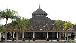 Demak Sultanate - The Grand Mosque of Demak, built on traditional Javanese architecture.