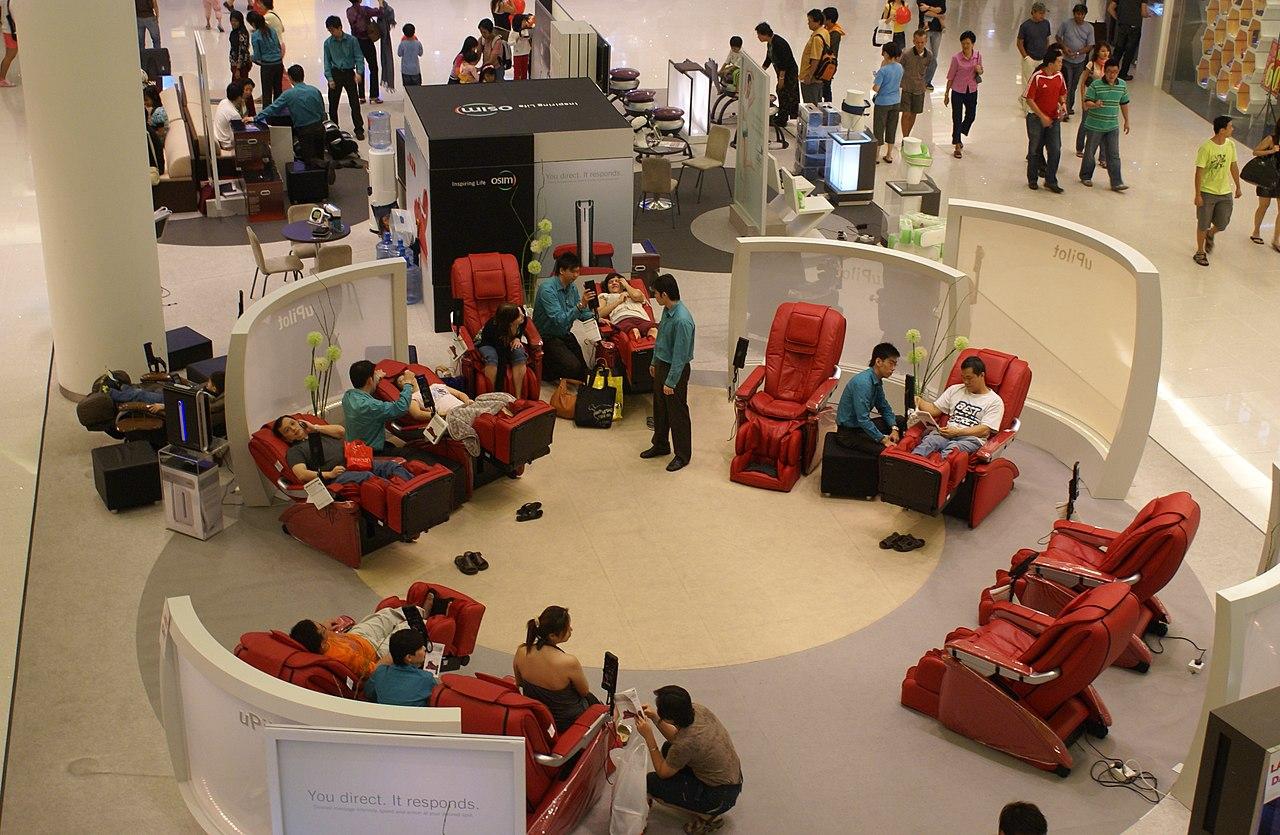 File Massage Chairs In Vivocity Jpg Wikimedia Commons