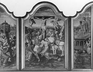 Triptych of Christ Carrying the Cross