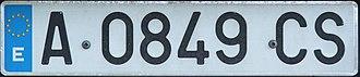 Vehicle registration plates of Spain - Alicante province registration