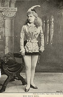 Maud Boyd British actress and singer