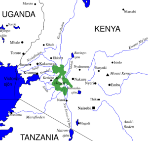 Swedish map of the Mau forest in Kenya, currently frequently appearing in the East African media due to the much debated evictions.