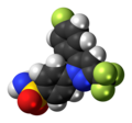 Mavacoxib molecule spacefill.png
