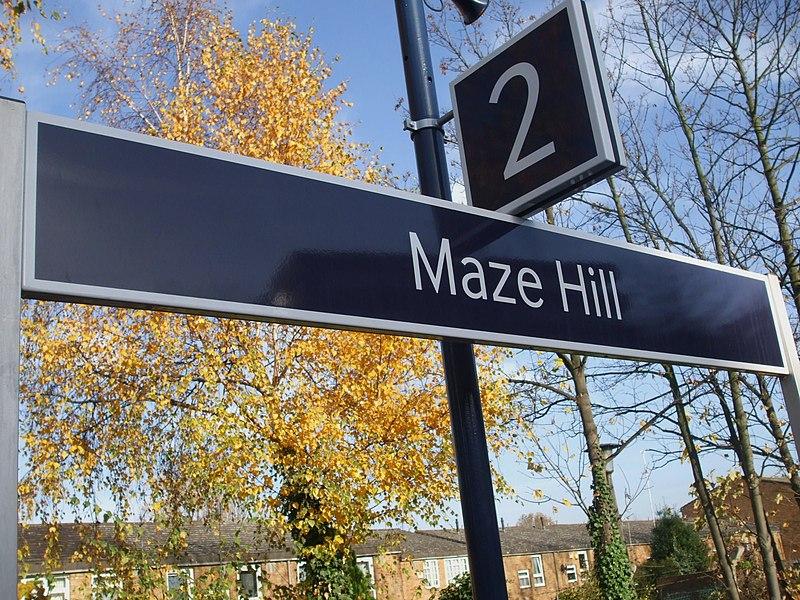File:Maze Hill stn signage.JPG