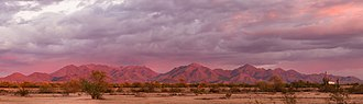 McDowell Mountains - Image: Mc Dowell Mountains at sunset