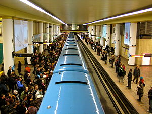 McGill station - McGill station during rush hour.