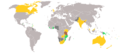 Medal map of the 2008 Commonwealth Youth Games.PNG