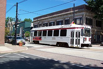 SEPTA Routes 101 and 102 - Route 101 LRV in Media