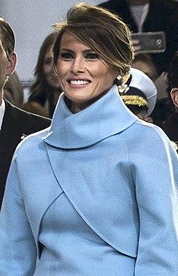 Melania Trump at Inaugural parade