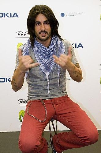 Melendi - Melendi at a disc signing in Madrid