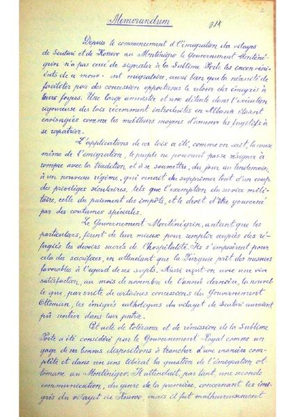 File:Memorandum na crnogorskata vlada po povod aranutskite protesti, 1911.pdf