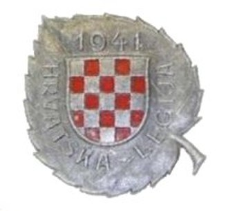 369th Croatian Reinforced Infantry Regiment (Wehrmacht) - 369th Legion Memorial badge