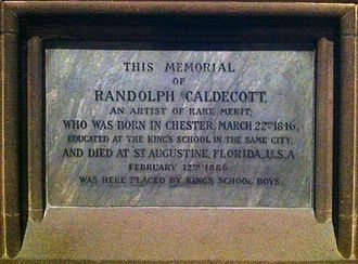 Randolph Caldecott - Memorial to Randolph Caldecott in Chester Cathedral