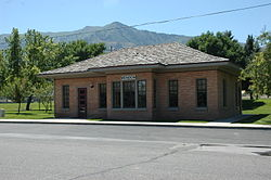 Mendon Station, a former railroad depot built in 1915, now houses Mendon city offices