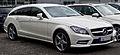 Mercedes-Benz CLS 350 CDI Shooting Brake Sport-Paket AMG (X 218) – Frontansicht, 5. Juli 2014, Düsseldorf.jpg