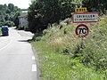 Merviller (M-et-M) city limit sign Criviller.jpg