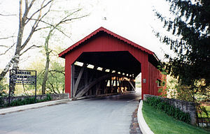 Grantham, Pennsylvania - The covered bridge on the Messiah College campus in Grantham