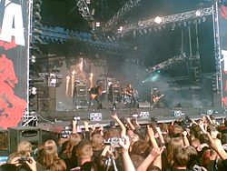 Metal band Opeth live at Tuska (Finland) 2006.jpg