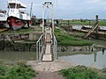Metal footbridge into Iron Wharf Boatyard - geograph.org.uk - 1250975.jpg