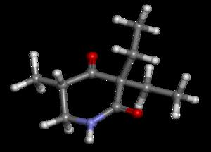 Methyprylon - Image: Methyprylon ball and stick